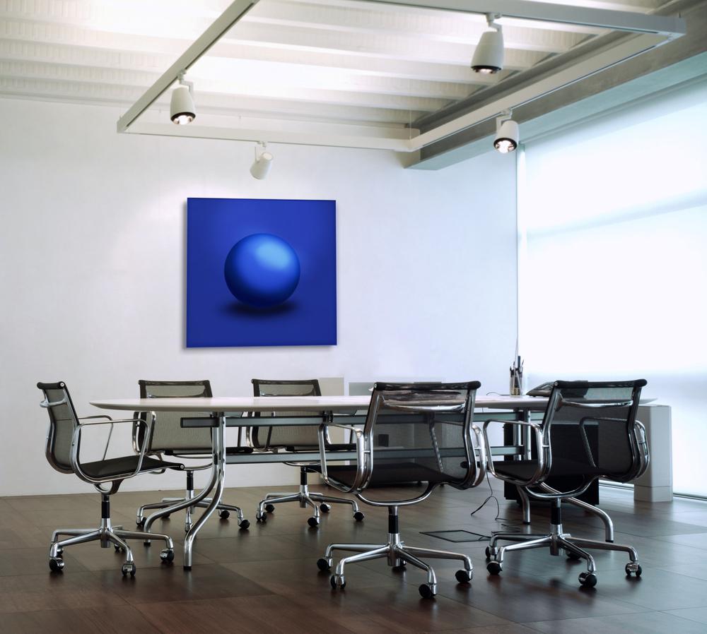 GALLERY Wandobjekt   Blue Sphere