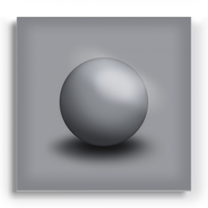GALLERY Wandobjekt | Grey Sphere