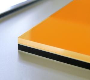 GALLERY Wandobjekt   Material Detail orange