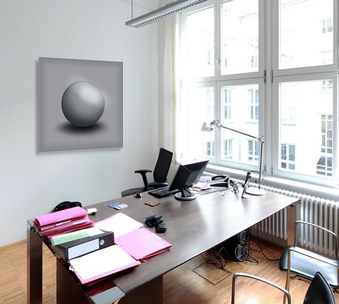 Gallery Wandobjekt   Grey Sphere
