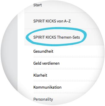SPIRIT KICKS Anwendung - Themen-Sets