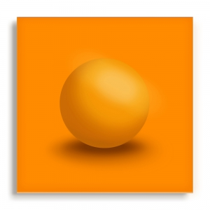 GALLERY Wandobjekt | Orange Sphere