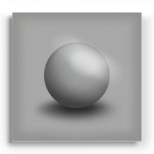 GALLERY Wandobjekt | Grey Sphere