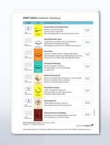 Im Einzelkarten-Bestellformular findest du alle verfügbaren SPIRIT KICKS aufgelistet und kannst sie in Ruhe aussuchen.